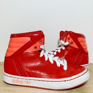 Leather & Patent Leather Hi-Top Sneakers